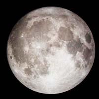 地球から見た月